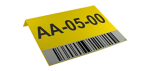 ONE2ID bulklocatie bord met barcode