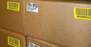 ONE2ID barcode etiketten voor dozen