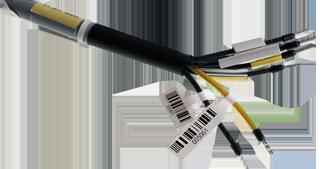 ONE2ID vlaglabels voor glasvezel kabels