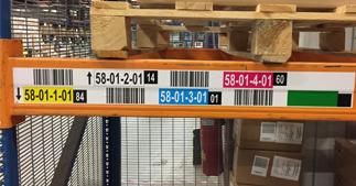 ONE2ID etiketten magazijn met kleuren check digits