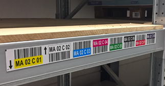 ONE2ID magneten magazijnstelling legbordstelling
