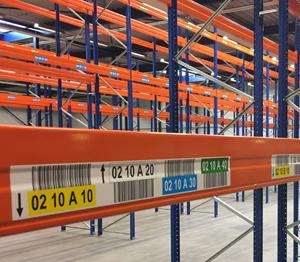 ONE2ID etiketten magazijn met hoogtekleuren