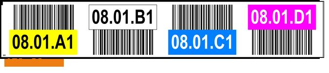 ONE2ID stellinglabel magazijn kleurcodering