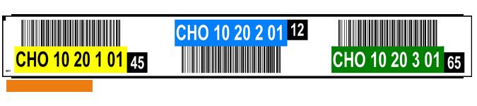 ONE2ID magazijnlabel barcodes kleur controlegetal