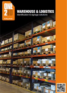ONE2ID warehouse & logistics brochure labels and identification