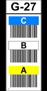 ONE2ID verticaal stelling label magazijn kleur