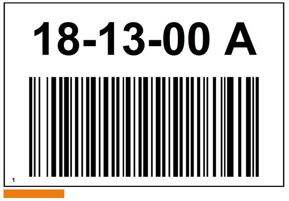 ONE2ID bulklocatie bord magazijn met barcode