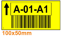 ONE2ID geel pickstellinglabel magazijn