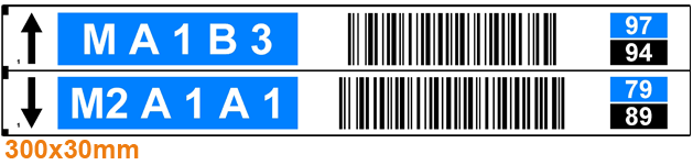 ONE2ID picklabel magazijn blauw zwart check digits voice picking