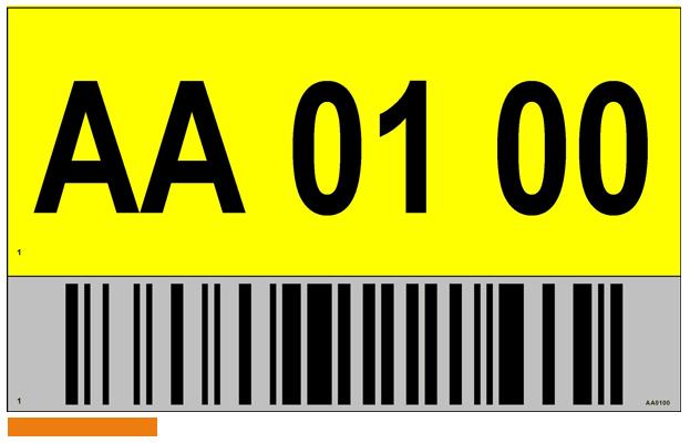 ONE2ID magazijn bord bulklocatie met reflectief etiket