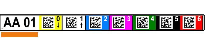 ONE2ID magazijnlabels 2D codes kleur