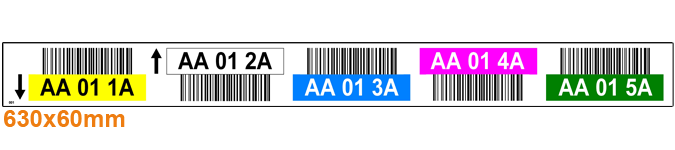ONE2ID stellinglabel magazijn kleuren barcodes