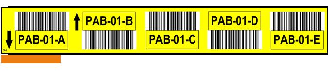 ONE2ID stellinglabel 5 niveaus geel
