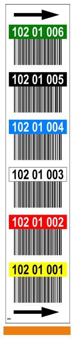 ONE2ID label staander palletstelling magazijn barcodes en kleuren