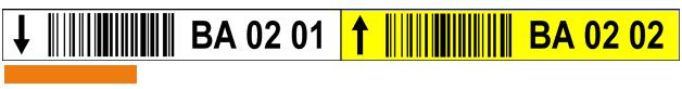 ONE2ID etiket orderpicken magazijn twee kleuren