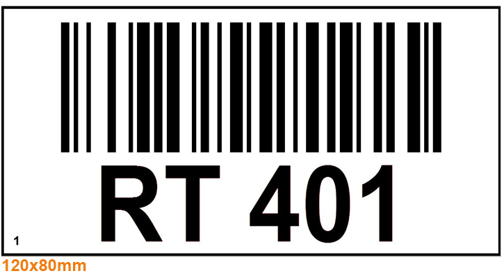 ONE2ID bulklocatie wit bord met barcode