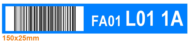 ONE2ID orderpick label blauw barcode