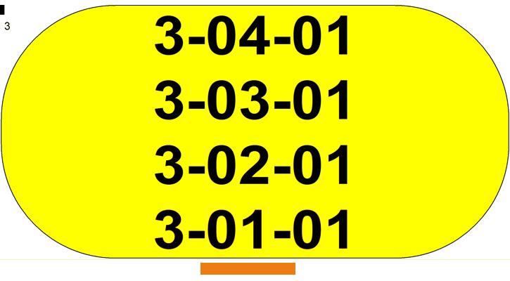 ONE2ID label magazijnvloer geel meerdere locaties