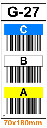 ONE2ID stellinglabels magazijn kleur barcodes