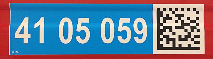 ONE2ID stellinglabel magazijn blauw