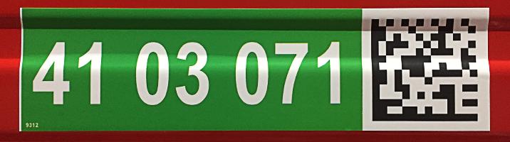 ONE2ID hoogtekleur magazijn groen