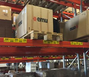 ONE2ID locatielabels met barcode magazijn Flinders