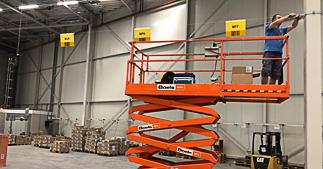 ONE2ID montage installatie borden bulklocatie opslag magazijn