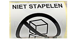 ONE2ID etiket waarschuwingslabel bulklocatie magazijn