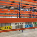 ONE2ID magazijnlabels locatielabels met hoogtekleuren palletstelling