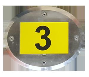 ONE2ID magazijnvloer vloerframe labels