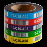 ONE2ID magneetlabels isotropisch met kleuren locatielabels