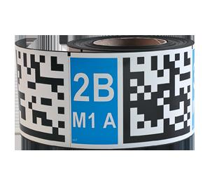 ONE2ID magnetische labels voor magazijn datamatrix code