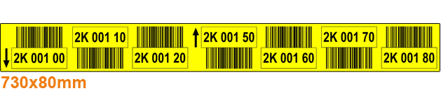 ONE2ID geel etiket barcodes palletstelling magazijn picklocaties en palletlocaties