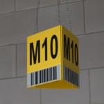 ONE2ID bord driehoek magazijn hal zone bulklocatie
