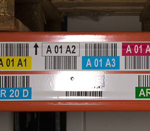 ONE2ID mat laminaat stellinglabels magazijn