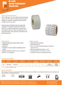 ONE2ID polyester etiketten producten componenten elektronica