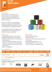 ONE2ID technische informatie raised labels typeplaatjes