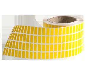 ONE2ID geel polypropyleen etiket magazijn vlaglabel draadcodering