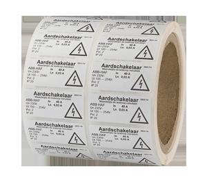 ONE2ID label etiket schakelkast elektriciteit