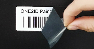 ONE2ID paintmask label poedercoaten industrie