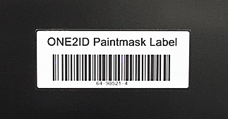 ONE2ID paintmask label oppervlaktebehandeling industrie
