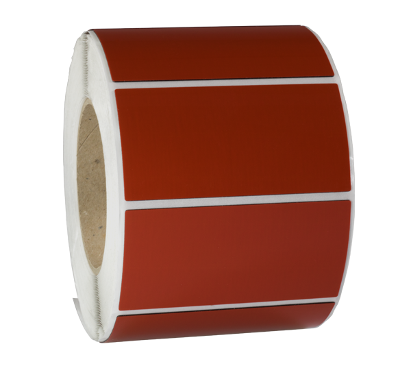 ONE2ID polyester label rood typeplaatje resopal