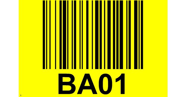 ONE2ID vloerlabel magazijn met barcode