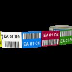ONE2ID barcode labels met kleurcodering magazijn stelling