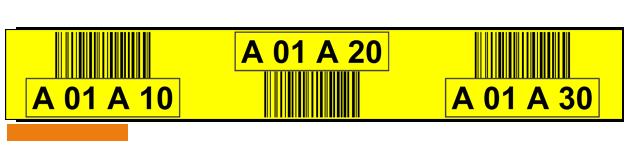 ONE2ID gele magazijnlabels met barcode scannen