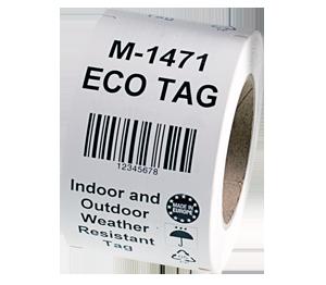 ONE2ID hangtag met barcode magazijn en industrie