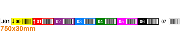 ONE2ID label draagarmstelling magazijn