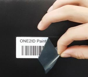 ONE2ID paint mask etiketten oppervlaktebehandeling poedercoaten natlakken