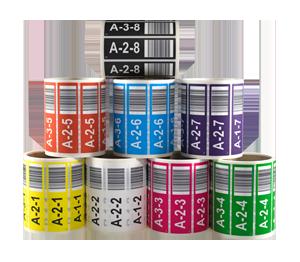 ONE2ID voorbedrukte magazijnlabels orderpicken stellingen