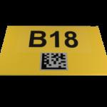 ONE2ID locatieborden magazijnborden datamatrix code scannen
